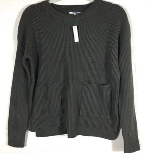 NWT Madewell Patch Pocket Pullover Sweater. XS
